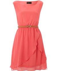 Maggie And Me - Sleeveless Sunkissed Belted Dress - Lyst