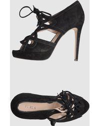 Furla Platform Sandals - Black