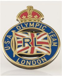 Ralph Lauren Team Usa Olympic Crown Pin - Metallic