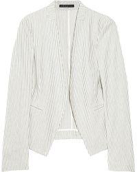 Theory - Lanai Striped Cottonblend Blazer - Lyst