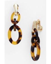 Ak Anne Klein Belden Place Double Link Clip Earrings - Lyst