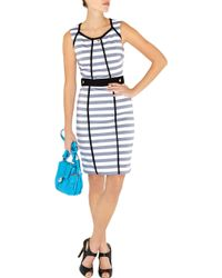 Karen Millen Graphic Stripe Dress - Lyst