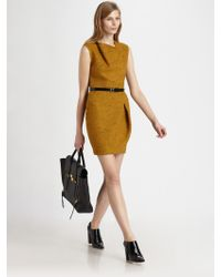 3.1 Phillip Lim Asymmetric Draped Dress gold - Lyst