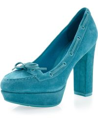 Sperry Top-Sider Suede Pump Turquoise - Lyst