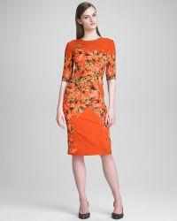 Erdem Floralprint Crepe Dress - Lyst