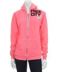 FREE CITY Large Logo Zip Hoodie - Lyst