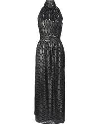 Halston Heritage Scarf Neck Gown - Lyst