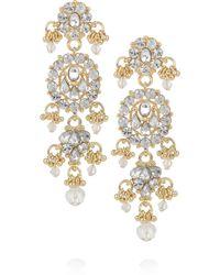 Isharya - Maharani Bling 18karat Goldplated Drop Earrings - Lyst