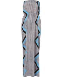 Topshop Moroccan Tile Maxi Cover Up gray - Lyst