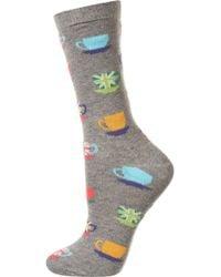 Topshop British Teacup Ankle Socks - Lyst