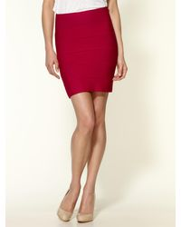 BCBGMAXAZRIA Simone Textured Power Skirt - Lyst