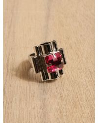 Mawi - Mawi Womens Deco Rocks Stacked Tube Ring - Lyst