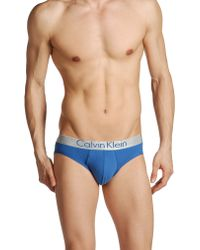 Calvin Klein Blue Brief - Lyst
