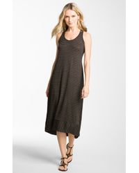 Eileen Fisher Racerback Linen Jersey Dress - Lyst