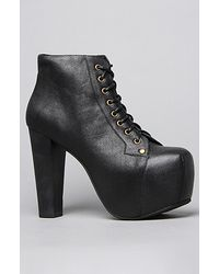 Jeffrey Campbell The Lita Shoe in Black with Black Wood Heel - Lyst