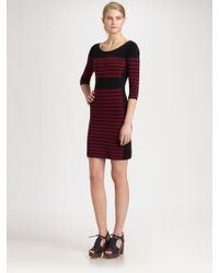 Sonia by Sonia Rykiel Striped Scoopback Cotton Dress - Lyst