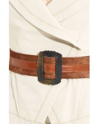 Donna Karan New York Collection Rectangular Buckle Belt - Lyst