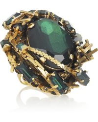 Erickson Beamon -  Oversized 22karat Gold Swarovski Crystal Ring - Lyst