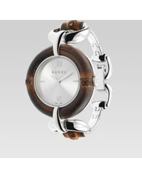 Gucci Bamboo Stainless Steel Watch - Lyst