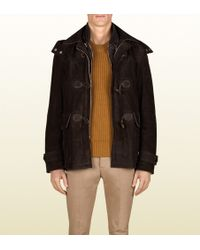 Gucci Montgomery Jacket with Detachable Hood and Lining - Lyst