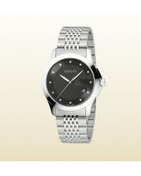 Gucci G-timeless Medium Stainless Steel Watch - Lyst