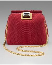 Kara Ross - Sidra Python Shoulder Bag - Lyst