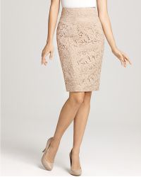 Burberry London Nude Lace Skirt - Lyst