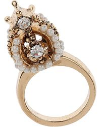 TOPSHOP - Jubilee Crown Ring - Lyst
