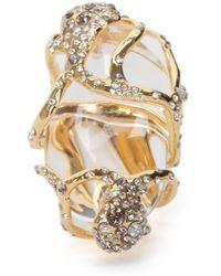Alexis Bittar - Modernist Gold Glacier Ring - Lyst