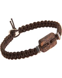 Catherine Zadeh - Macrame Cord Bracelet with Coconut Shell Bead - Lyst