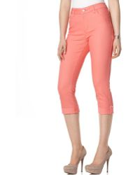 Not Your Daughter's Jeans Carmen Skinny Cuffed Capri Jeans Coral Reef Wash - Pink