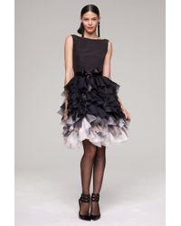 Oscar de la Renta Faille Sleeveless Organza Dress - Lyst