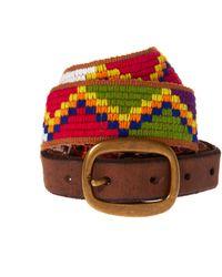 Ralph Lauren Denim Supply Skinny Woven Belt - Lyst