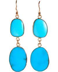 Sandra Dini - Double Drop Turquoise Earrings - Lyst