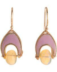 Ten Thousand Things - Ethiopian Opal Enamel Arabesque Holder Earrings - Lyst