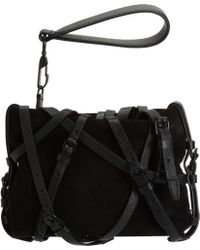 Alexander Wang Prisma Coated Leather Fold-Over Clutch - Black