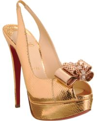 Christian Louboutin Metal Nodo 150 Ayers gold - Lyst
