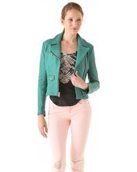 Kelly Wearstler Leather Moto Jacket - Lyst