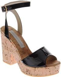 Stella McCartney Cork Wedge Sandal - Lyst