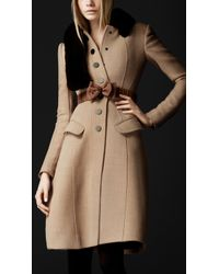 Burberry Prorsum Crêpe Wool Tailored Coat - Lyst