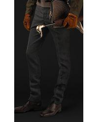 Burberry Prorsum Skinny Fit Wool Twill Trousers - Lyst