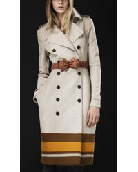 Burberry Prorsum College Stripe Trench Coat - Lyst