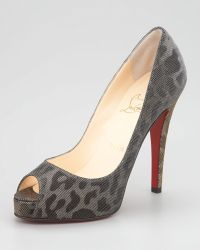Christian Louboutin Very Prive Lame Pump - Lyst