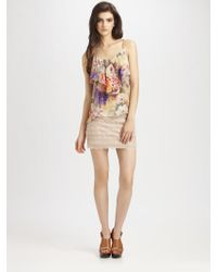 Haute Hippie Lace Mini Skirt - Lyst