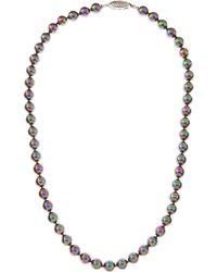 Majorica Tahitian Pearl Necklace  - Lyst