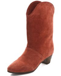See By Chloé Low Heel Mid Calf Boots - Lyst