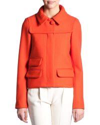 Chloé Hidden Placket Short Jacket orange - Lyst