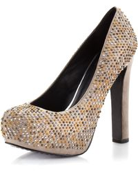 Dolce Vita Brenna Studded Pump Taupe - Lyst