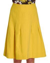 Lanvin Pleated Skirt - Lyst