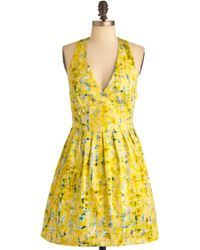 ModCloth Process Of Lemonation Dress - Lyst